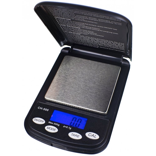 A On Balance Champion é uma Balança de Bolso que pode pesar até 500 g com precisão de 0,01 g